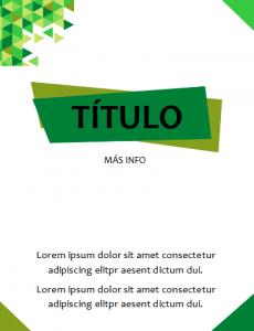 portada Word elegante verde
