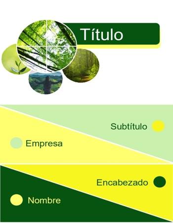 Portada Word Verde Naturaleza